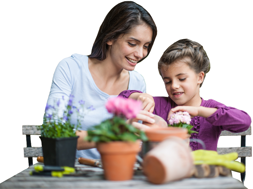 Mom and Daughter - Fairy Garden Accessories