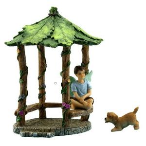 Fairy Garden Gazebo with Fairy Boy & Dog