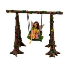 Fairy Stella on Swing - Fairies For Fairy Garden