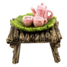 Fairy Tea Set on End Table