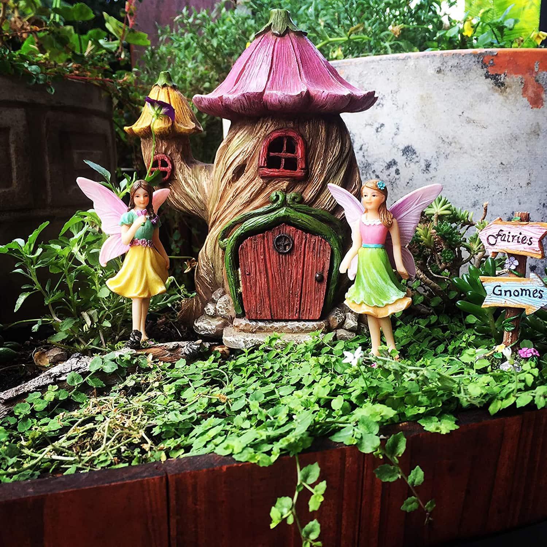 Flower Stump Fairy House