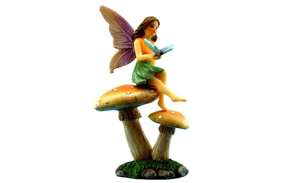 Garden Fairy And Mushroom Stand Set - Fairy Garden Fairies