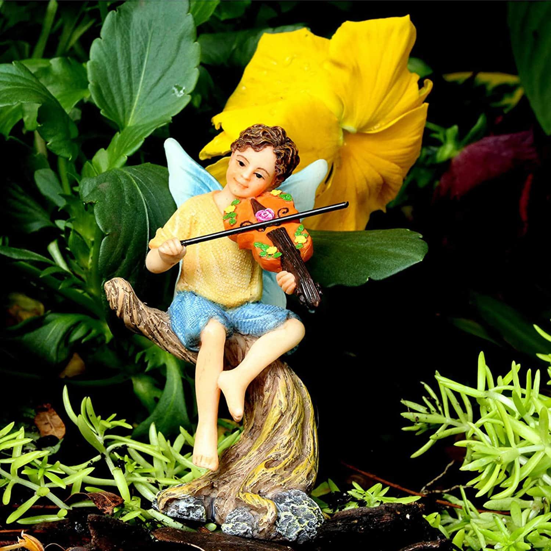 Fairy Boy Playing Violin - Musicians Fairies Set