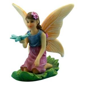 Sitting Fairy on a Leaf