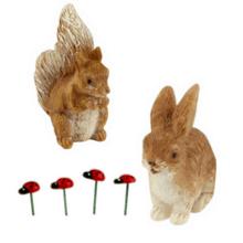 Squirrel, Bunny & Ladybugs