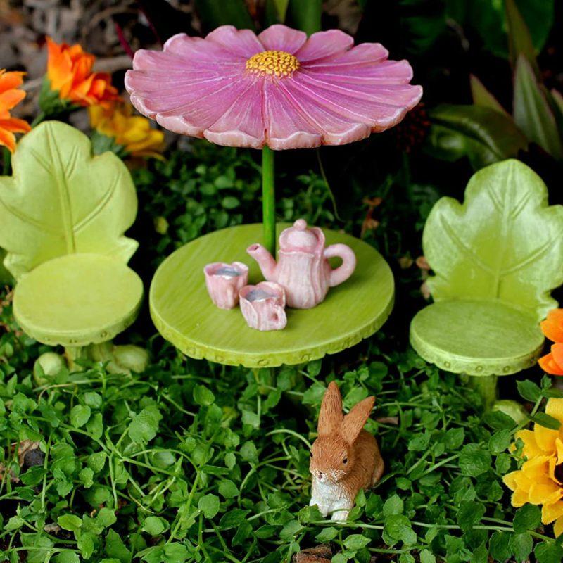 Fairy Figurine Furniture and Tea Set 2