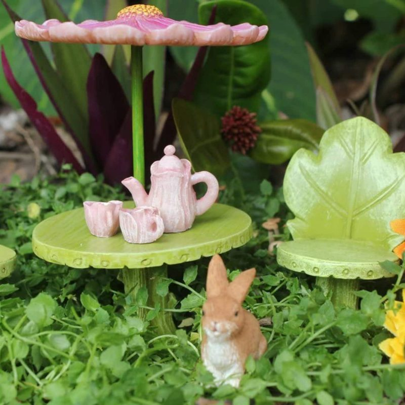 Fairy Figurine Furniture and Tea Set 4