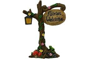 Fairies Welcome Sign - Fairy Garden Accessories