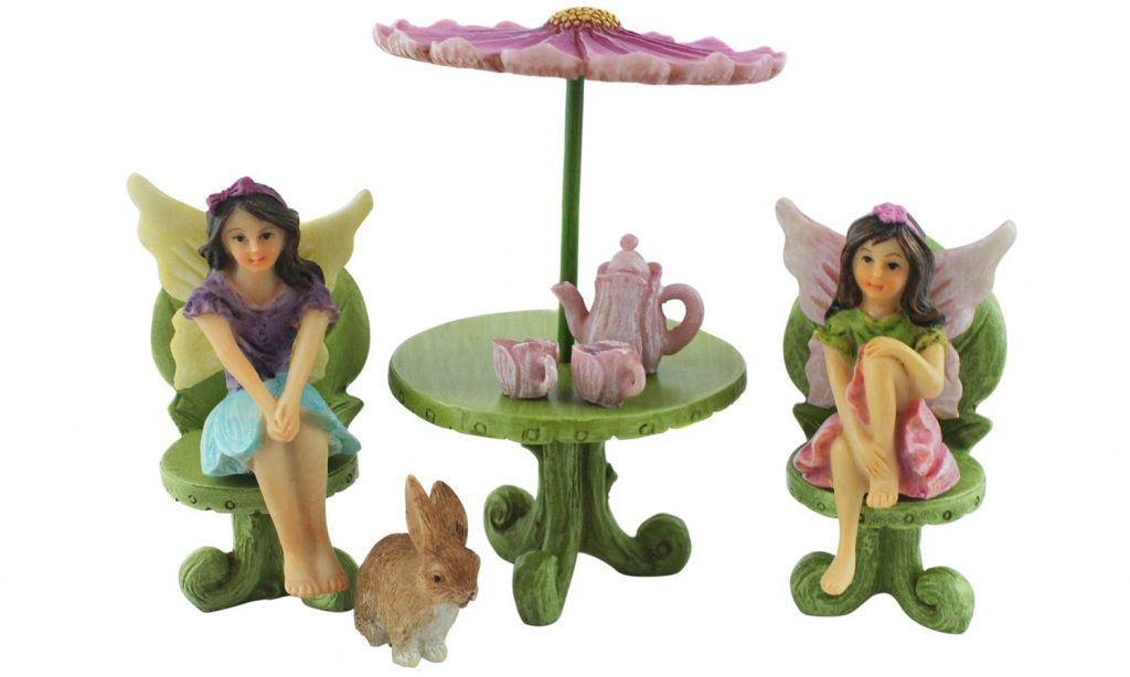 Fairy Figurine Furniture and Tea Set