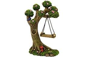 Tree Stump with Swing - Fairy Garden Accessories