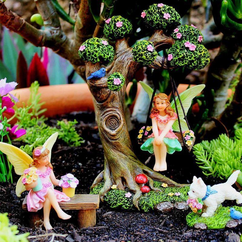 Tree Swing Set - Fairy Garden Accessories 1